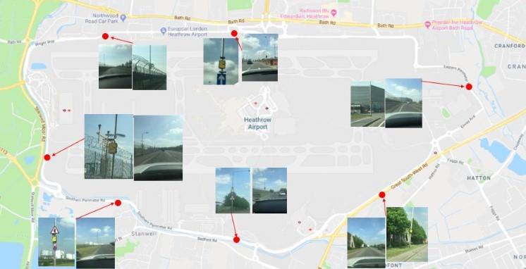 Speed cameras on Heathrow Southern Perimeter Road